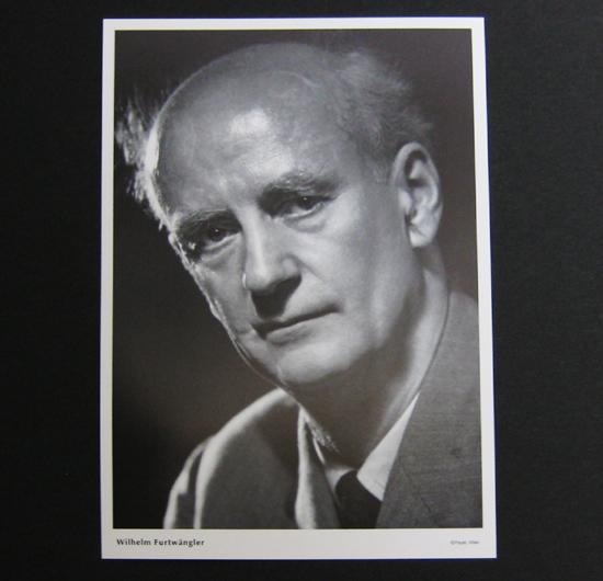 ●フルトヴェングラー ポストカード Wilhelm Furtwngler 非売品