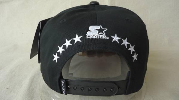38bc22fe2fb Ninth Hall Script Snapback Hat 黒 %off 帽子 バイザー STARTER スターター ボディ スナップバック キャップ