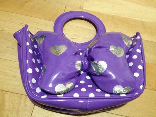 即決◆ディズニー リゾート購入 デイジー 紫 でかリボン トート