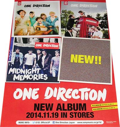 ●ワン・ダイレクション One Direction CD告知ポスター 非売品