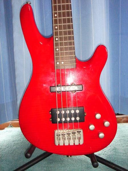 PLAY TECH 5弦 BASS 赤