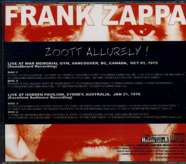 中古 フランク・ザッパ 【ZOOTT AZLLLURELY !】 4CD_画像2