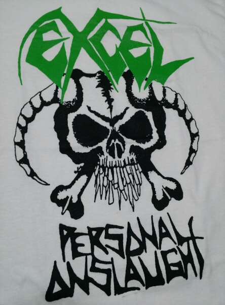 EXCEL Tシャツ personal onslaught 白M /suicidal