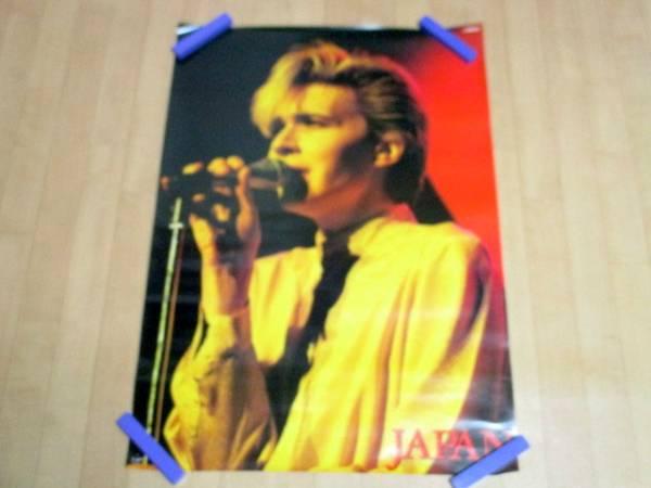 David Sylvian JAPAN ♪ ポスター JAPAN ♪ 美品 グッズ