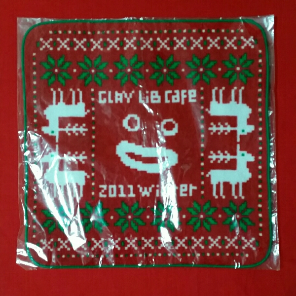 GLAY LiB CAFE 2011 winter ハンドタオル レッド 新品