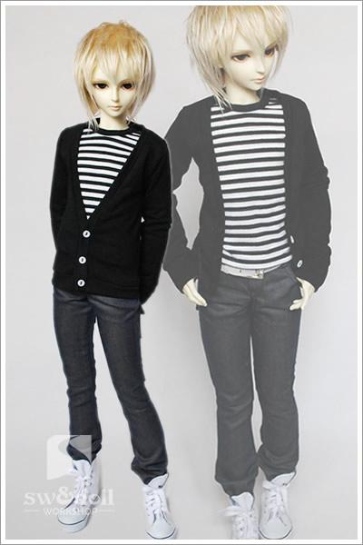 【Sunny's World】 MSD、SD,SD13、SD17少年用お洋服4点セット_画像1