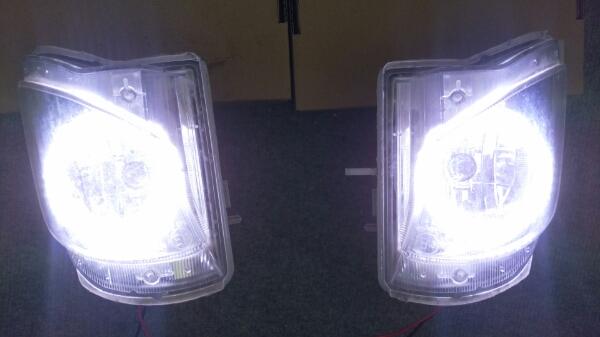 レクサス IS 純正フォグライト LEDリング加工品_画像1