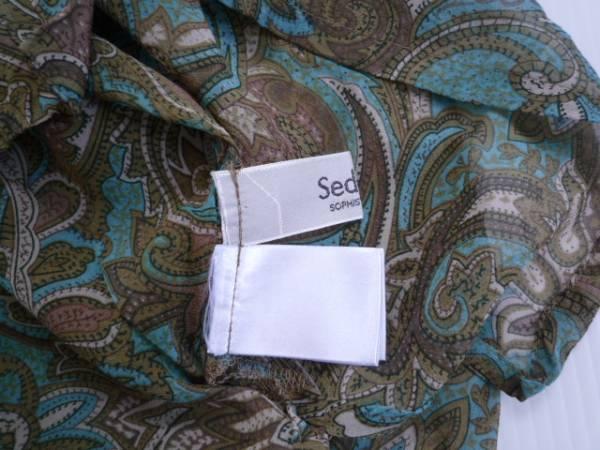 【良品!】 ◆ セデュイール / Seduire ◆ 総柄シャツ 長袖 フリル M_画像3