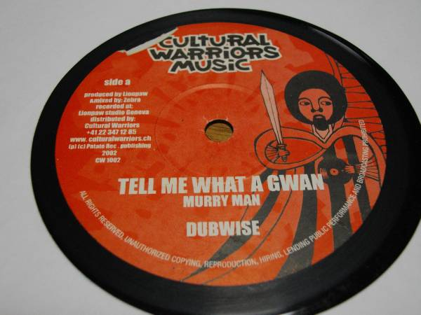 Murry man [tell me what a gwan] 10inch new roots EX reggae レゲエ ニュールーツ vintage ビンテージ record レコード uk アナログ _画像1