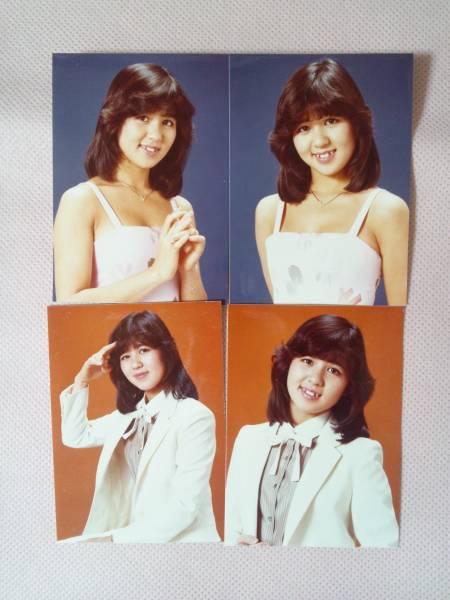 石野真子アイドル時代ミニ写真×4枚