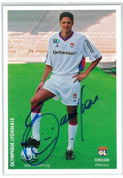 B343 クラブ発行直筆サイン ブラジル代表 エジミウソン リヨン FCバルセロナ サラゴサ パルメイラス FCサンパウロ