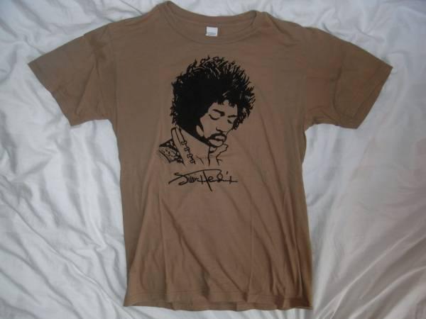 即決!Jimi Hendrix/ジミヘン/Tシャツ/茶/S/人物/音楽/USA/フロッキー
