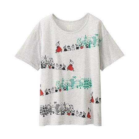 新品ムーミンuniqloTシャツS M L XL*森ミー仲間達お散歩ミムラ林 グッズの画像