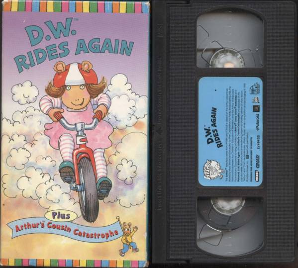 ★【ARTHUR'S】D.W. RIDES AGAIN (VHSビデオ)_D.W. RIDES AGAIN (VHSビデオ)