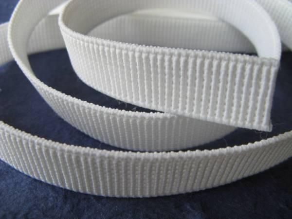 【新品】手芸/ネジレに強い平ゴム/プロ仕様/白/15mm×5m_柱のような織りかた