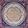 卍チベット密教の究極 ◆カーラチャクラ曼荼羅◆仏教美術50cm