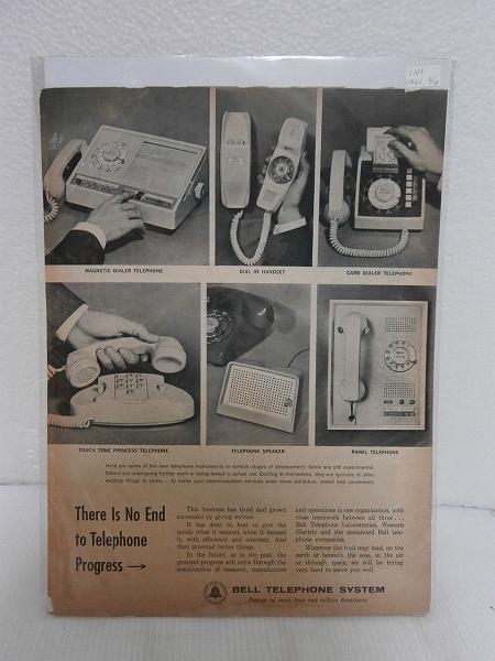 1962年アメリカLIFE誌切り抜き【BELL TELEPHONE SYSTEM】電話