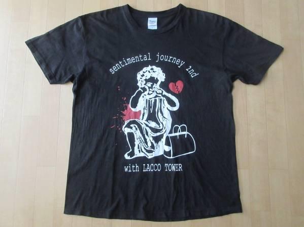 LACCO TOWER 続・短編傷説 リリースツアー 続・傷心旅行 Tシャツ L ブラック 黒 LACCOTOWER ラッコタワー TOUR LIVE ロック バンド