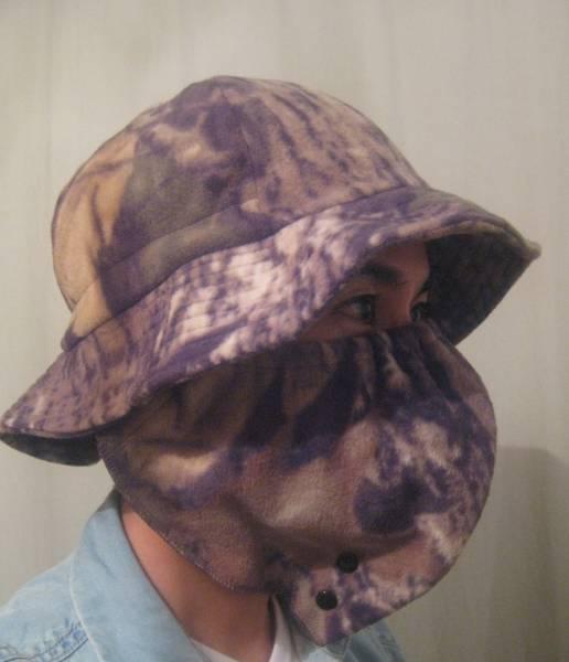 温かい 日本未発売 DueNorthフリース迷彩ハット&マスク 着脱可能 カモフラージュ サバゲー_画像3