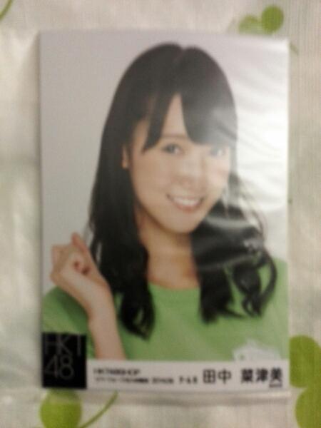 HKT48 田中菜津美 リバーウォーク限定 9月度個別生写真  ライブグッズの画像