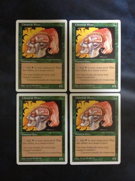◆5ED ラノワールのエルフ/Llanowar Elves (英) 4枚セット_画像1
