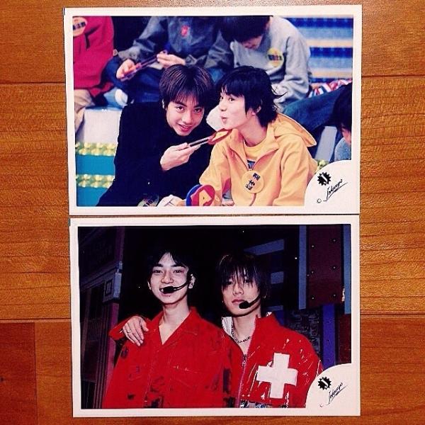 即決¥2000★嵐 公式写真 803★松本潤 小原裕貴 Jr.時代 貴重 Jロゴ 2枚セット
