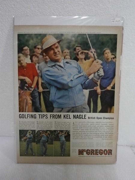 1961年広告切り抜き【McGREGOR/マクレガー】LIFE誌ドリズラーJKT