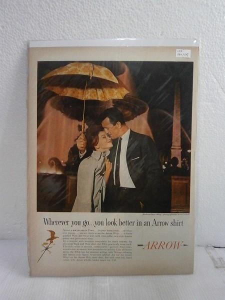 1960年アメリカの雑誌広告【ARROW/アロー】シャツ LIFE誌