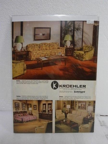1969年アメリカの雑誌広告【KROEHLER Scotchgard】LIFE誌