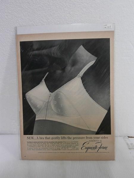 1961年アメリカの雑誌広告【ExquisiteFrom】ブラジャーLIFE誌