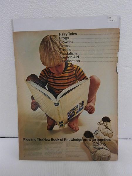 1970年アメリカの雑誌広告【本と子供】LIFE誌