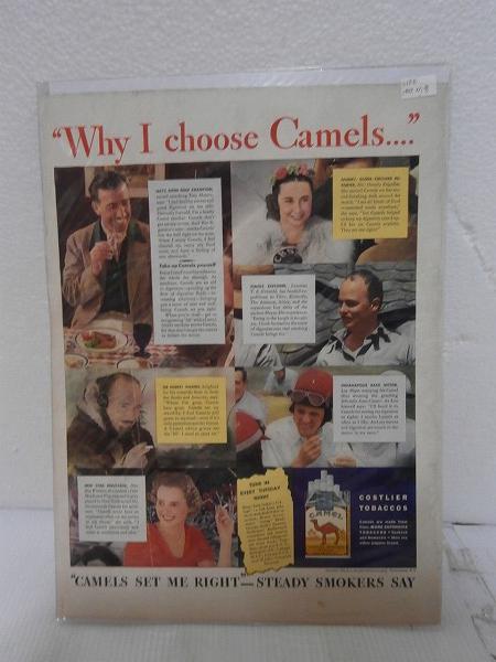 1937年アメリカの雑誌広告【CAMEL/キャメル】たばこ LIFE誌