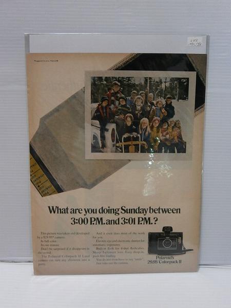 1970年LIFE誌切り抜き【Polaroid's】ポラロイドカメラ