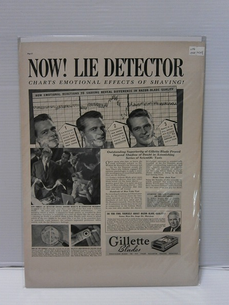1938年LIFE誌切り抜き【Gillet Blades】髭剃りクリーナー US