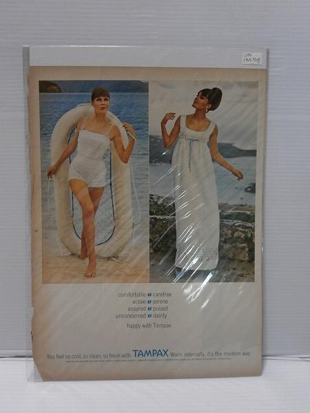 1964年LIFE誌切り抜き【TAMPAX】アパレル 服 USアメリカ