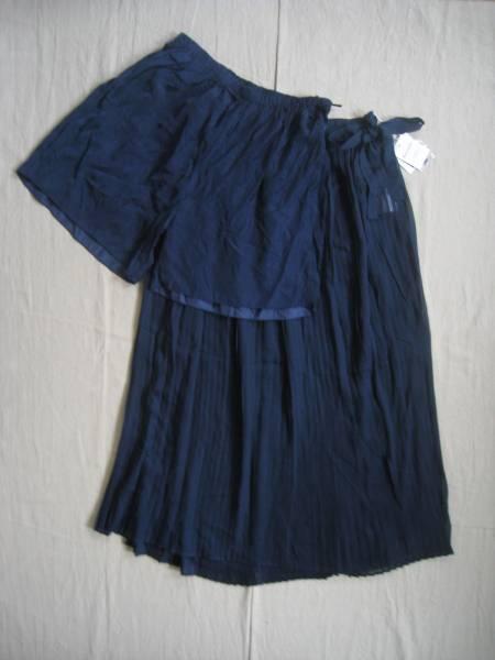 【新品!】◆Riche Glamour◆アンサンブル スカート パンツ NV M