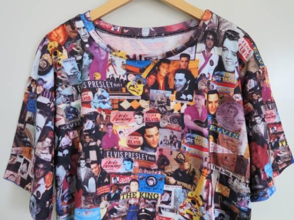 ビンテージ エルビスプレスリー Tシャツ L相当 ロカビリー 50'S