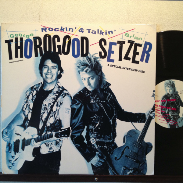 GEORGE THOROGOOD AND BRIAN SETZER PROMO 12inch ロカビリー STRAY CATS ストレイキャッツ_画像1