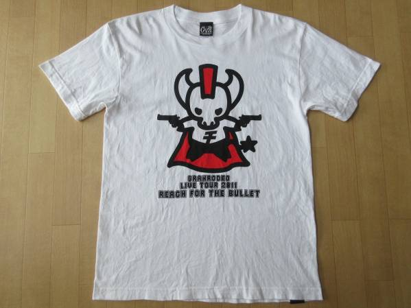 GRANRODEO LIVE TOUR 2011 REACH FOR THE BULLET Tシャツ Sホワイト 白 グランロデオ KISHOW 谷山紀章 声優 e-ZUKA 飯塚昌明 ライブ ツアー