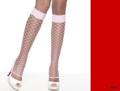 3905RD Leg Avenue 網レッグウォーマー 赤 新品 OS ワンサイズ フリーサイズ フェンスネット 網タイツ 靴下 レッグアベニュー アメリカ USA_画像1