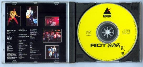 Riot ∽ RIOT ∽ ライオット ∝ 初CD化 ライヴ写真ジャケ_画像2