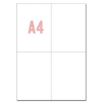 マイクロミシン目入りコピー用紙(A4/4分割/ホワイト)500枚パック_画像1
