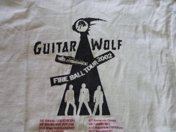 即決●ギターウルフ 2002年 ツアーTシャツ 白 S