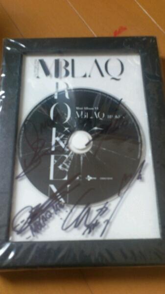 即決●MBLAQ●直筆サイン入り 6th mini Album『BROKEN』●輸入CD ライブグッズの画像