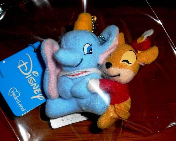 ★ディズニー ダンボ & とんすけ ホルダーマスコット 1個 ディズニーグッズの画像