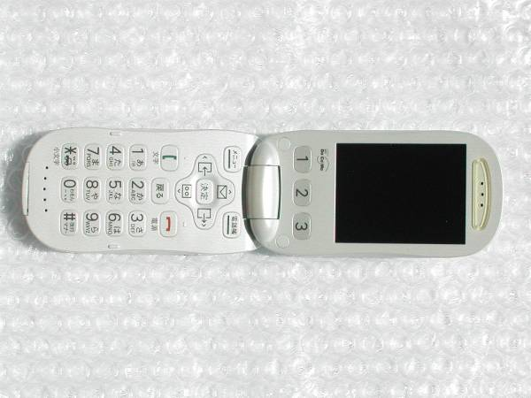 ドコモらくらくホンF883iSパールホワイト白/F883i/充電もほぼ新品!!! 極美品!!! 送込無料