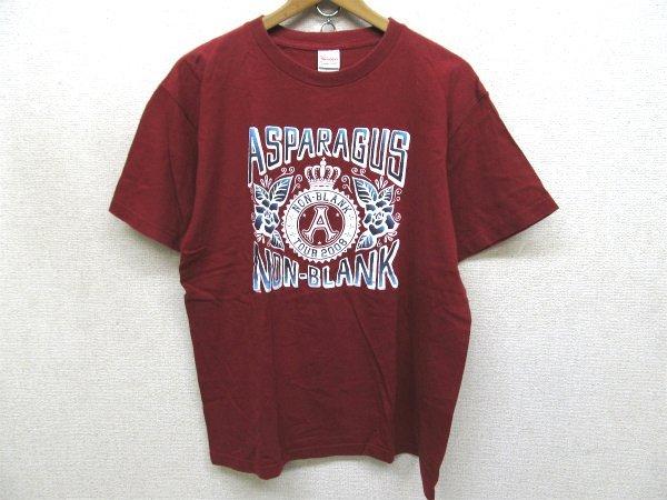 ASPARAGUS 東名阪ツアー オフィシャルプリントTシャツ赤Lt6591