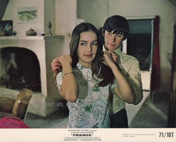 1971年 映画 フレンズ ポールとミシェル ロビーカード 2枚付き