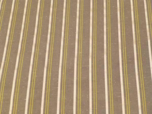 新品正絹反物★鹿児島県・本場縞大島紬着尺★グレー地に縞柄です_画像3