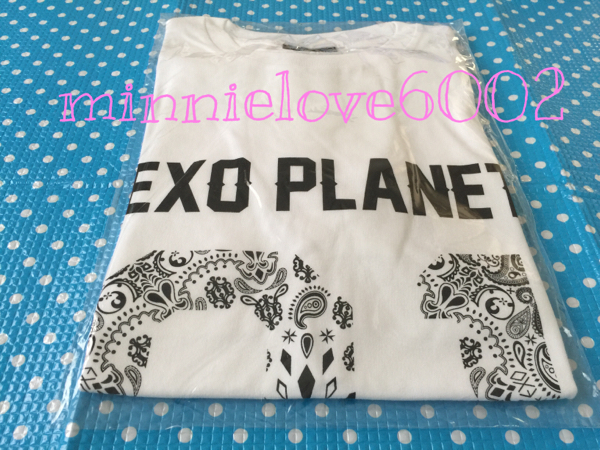 FROM EXO PLANET #1★THE LOST PLANET IN JAPAN★公式 グッズ★Tシャツ★ホワイト 白★Lサイズ★新品 ライブグッズの画像